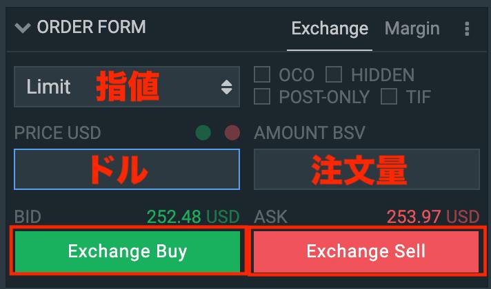 ビットコインSV(BSV)の買い方・注文の出し方