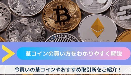 【2020年最新版】草コインの買い方・購入方法は簡単!草コイン投資の始め方・おすすめ取引所・注意点などを解説!