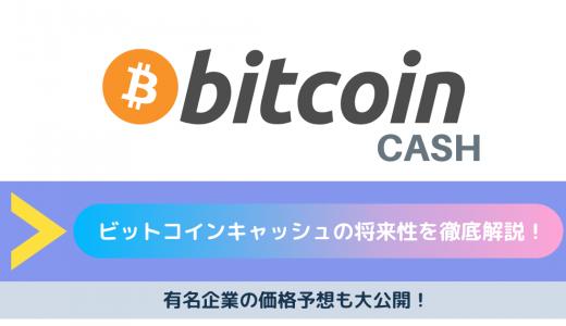【2020年最新】ビットコインキャッシュ(BCH)の将来性を徹底解説!有名企業の価格予想も大公開!