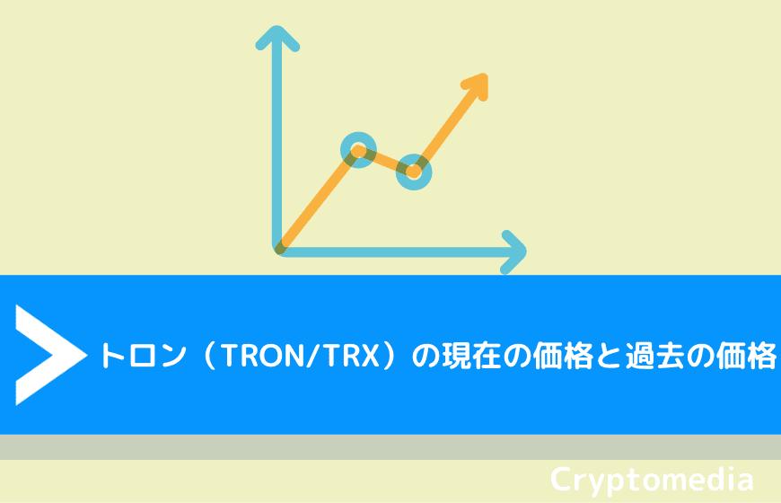 トロン(TRON/TRX)の現在の価格と過去の価格