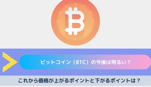 ビットコイン(BTC/Bitcoin)の今後は?これから価格が上がるポイントと下がるポイントは?将来性があるのか解説!