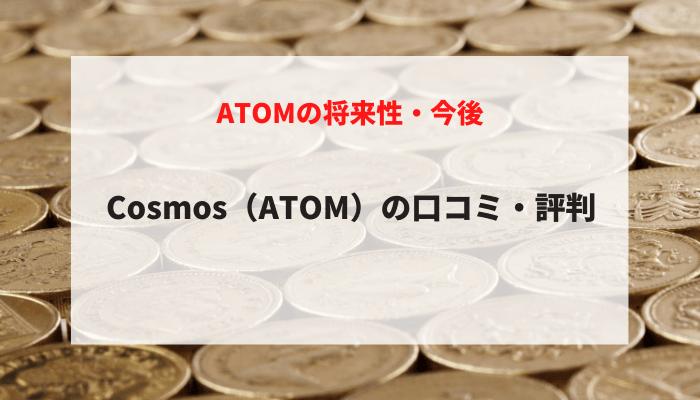 Cosmos(ATOM)の将来性・今後